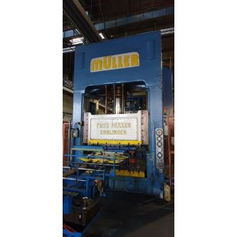 F.MULLER ZE 400-20-4-7 H frame double side uprights hydraulic press
