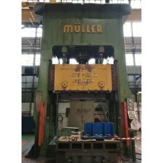FRITZ MULLER BZE 1200 36.1.1 H-frame double sided uprights triple effect hydraulic press
